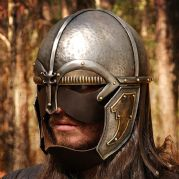 Warrior Helmet With Leather Guards